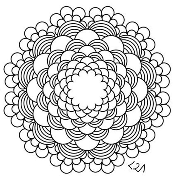 Intricate Mandalas Coloring Pages