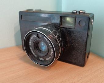 USSR Vintage Photo Camera Vilia, 35mm film viewfinder Camera