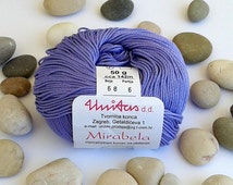 Cotton yarn - PURPLE - 100% mercerized cotton yarn for knitting and crochet by Unitas - 50g/142m - Color number 68