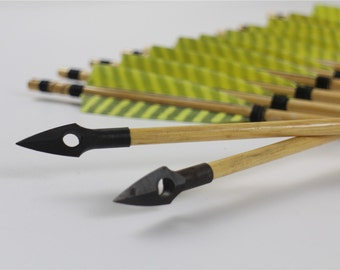 24pcs 32inch Medieval Style Wooden hunting arrows for longbow&recurve bow-Fast Shipping