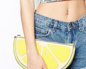 OOO – plastic yellow lemon bag hand bag