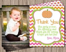 Pumpkin Thank You Card - Personalized Fall Thank You Cards