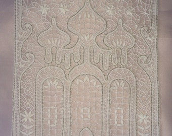 "Bobbin Lace panel ""Saint Sophia Cathedral"" Vologda lace handmade Bobbin lace Russian lace"