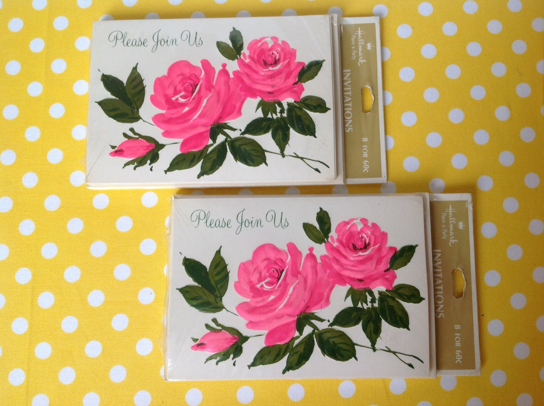 Hallmark Invitations Wedding: Vintage Invitations Hallmark Invitations Floral Roses