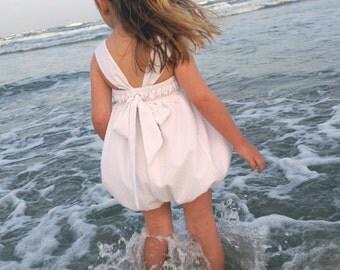 Dotted Swiss Girls Beach Romper
