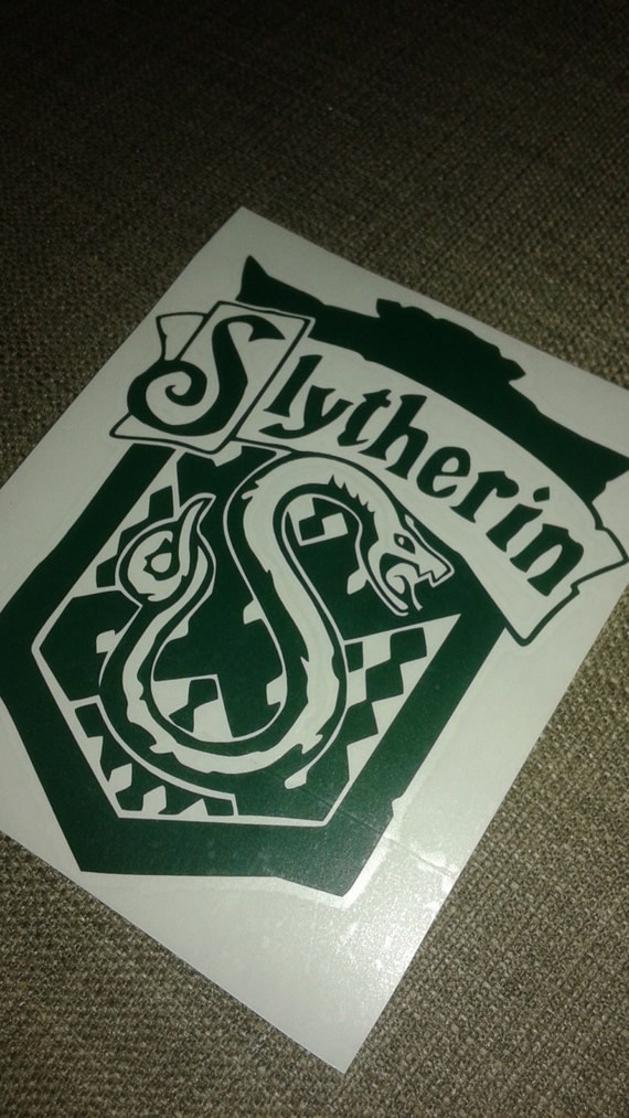 Slytherin decal 5 inch house crest hogwarts by fandomalley - Hogwarts decal ...