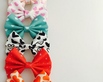 Love heart bows
