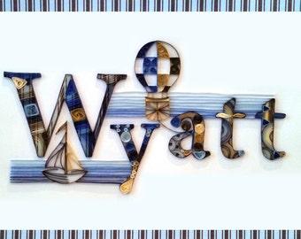 Quilling - Custom Name Wall Hanging, Wyatt
