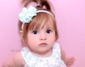 Baby Flower Headband, Baby Girl Lace Headband, Baby Photo Prop, Baby Shower Gift, Photography Prop