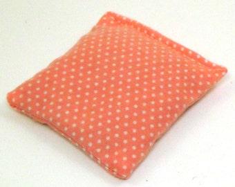 Organic Cotton Catnip Pillow - pink flannel