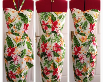 Size Medium - Vintage inspired hawaiian dress