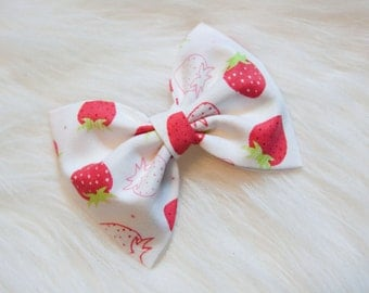 Scented Strawberry Hair Bow