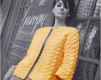 Crochet CARDIGAN Pattern Vintage 70s Crochet Sweater Pattern Crochet Jacket Pattern Crochet Coat Pattern TOP PATTERN instant download