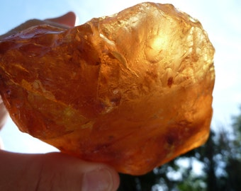 Raw Amber Nugget 6 inches wide