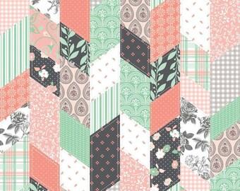 "Riley Blake Designs ""Sew Charming"" by Bo Bunny 100% cotton DC4541 Designer Cloth Coral"