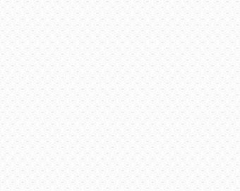 Riley Blake Designs - C760-130 WHITE - Stitched Circle Tone On Tone White - 100% Quilting Cotton