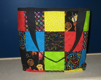Large Patchwork Tote Bag