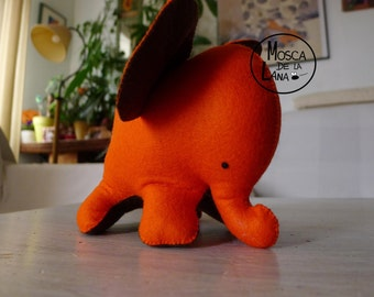 ORANGE ELEPHANT DOLL