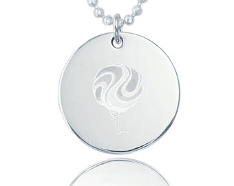 Wavey Tree Sterling Silver Necklace (NC-SSN10001-SSC10001-E10030)