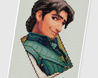 PDF Cross Stitch pattern - 0031.Flynn rider ( Tangled ) - INSTANT DOWNLOAD