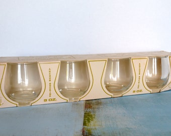 4 Anchor Hocking 9oz Glasses In Original Packaging