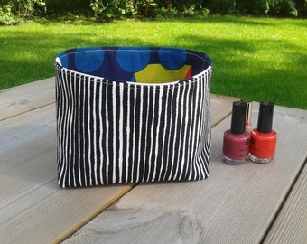 Fabric Basket Organizer made from Marimekko fabric, Storage bin container, Gift basket, Scandinavian fabric