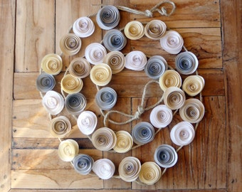Paper Flower Wedding Garland