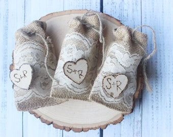 Favor Bags, Wedding Favors, Rustic favor bags,