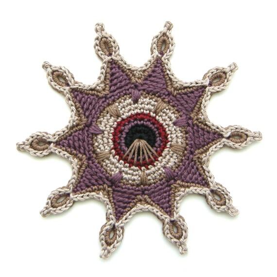 原创设计钩针杯垫的图案花片(欣赏) - maomao - 我随心动
