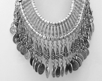 Izara Silver Coin Necklace
