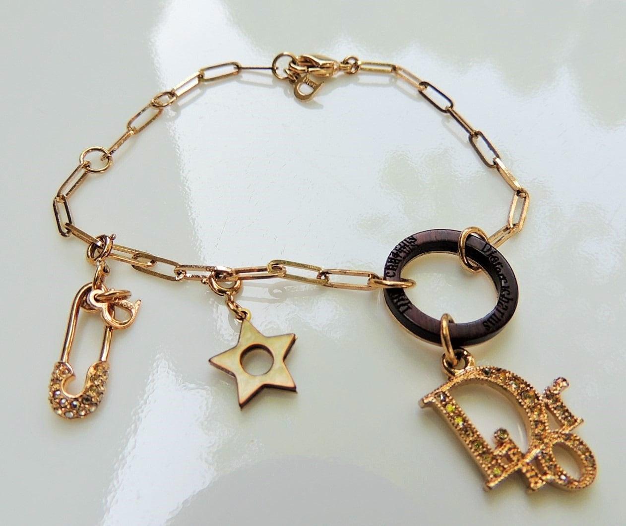 Christian Charm Bracelets: Vintage Christian Dior Charm Bracelet & Vintage Gucci Mini