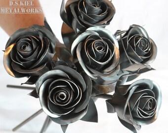 Metal Rose Wedding Bouquet, Sweetheart Rose Bridal Bouquet, Metal Rose, Bridesmaid Bouquet, Wedding Gift, Wedding Centerpiece, Metal Flowers