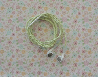Hand-Braided Headphones - Custom Tangle-Free Earbuds -Wrapped Headphones - Kawaii Decorative Earbuds