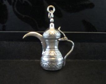 Saudi Arabian Silvertone Pendant