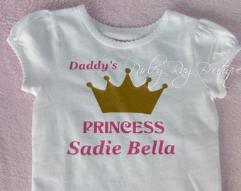 Custom Baby  Bodysuit daddy's princess sadie bella