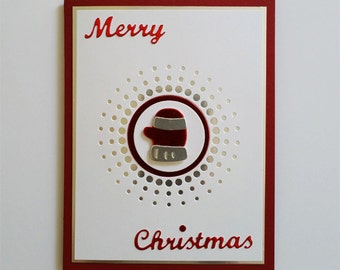 Foiled Mitten Christmas Card Kit of 7