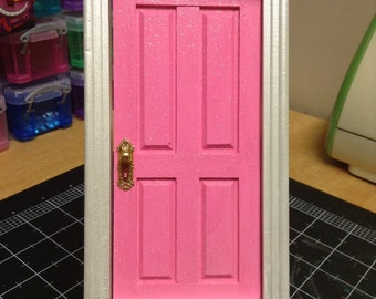 Tooth Fairy Door Loose Tooth Fairy Realm Pink Celebration Glittery