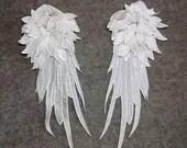 Wings Applique. PAIR. Lace Wings. Angel Wings Lace Applique. 3D Wings. LA100014.