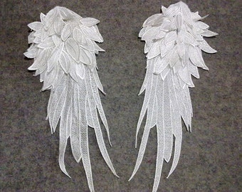 Wings Applique. 15 x 38cm x 1 PAIR. Lace Wings. Angel Wings Lace Applique. 3D Wings. LA100014.
