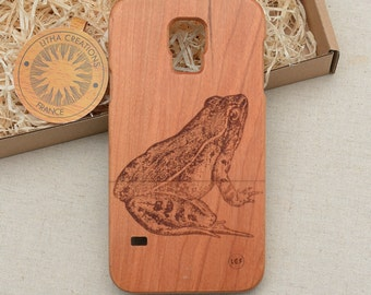 Nature / Insects Custom Design ''Bufo'' Natural Cherry Wood Phone Case HTC One M9 M10 LG G4 G5 Nexus 5x Sony Xperia Z5 Z3 and Z3 Z5 Compact