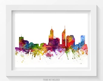 Perth skyline etsy for Home decorations perth