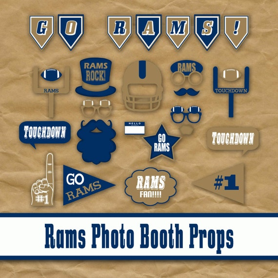 St. Louis Football Printable Photo Booth Props