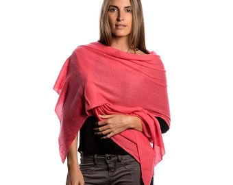 Watermelon 100% Cashmere Wrap
