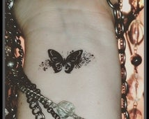 butterfly fake tattoo temporary tattoo butterfly