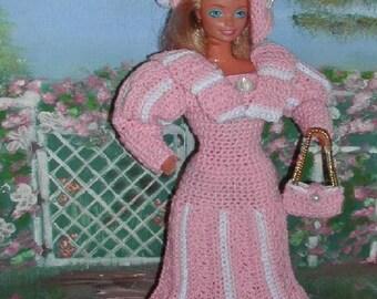 Crochet Fashion Doll Barbie  Pattern- #361 THIRTIES COSTUME