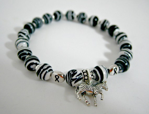 Neuroendocrine Cancer Awareness Bracelet By Artistryjewels