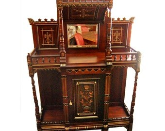 6152 Antique Cabinet, Aesthetic Movement c 1880