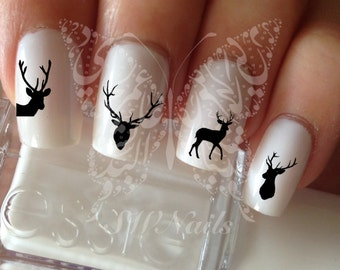 Deer Nail Art Nail Water Decals Transfers Wraps