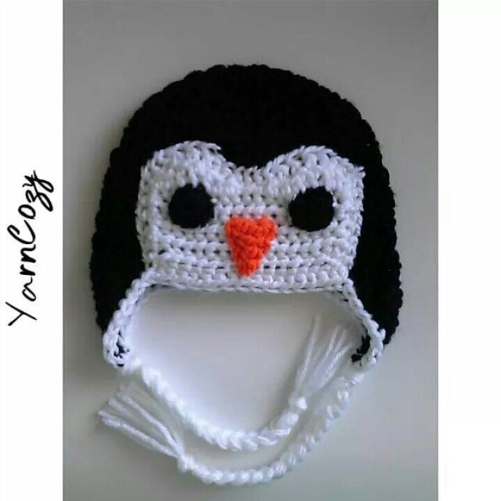 baby penguin hat baby shower gift boy penguin baby by yarncozy