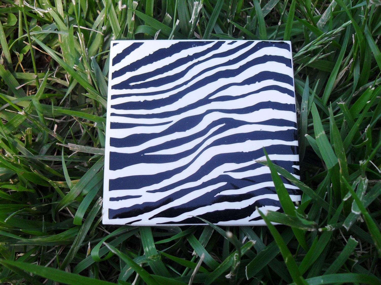 Zebra Design Coasters Home Decor Bar Kitchen By